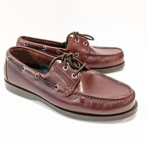 Bass men's leather boat shoes 11W